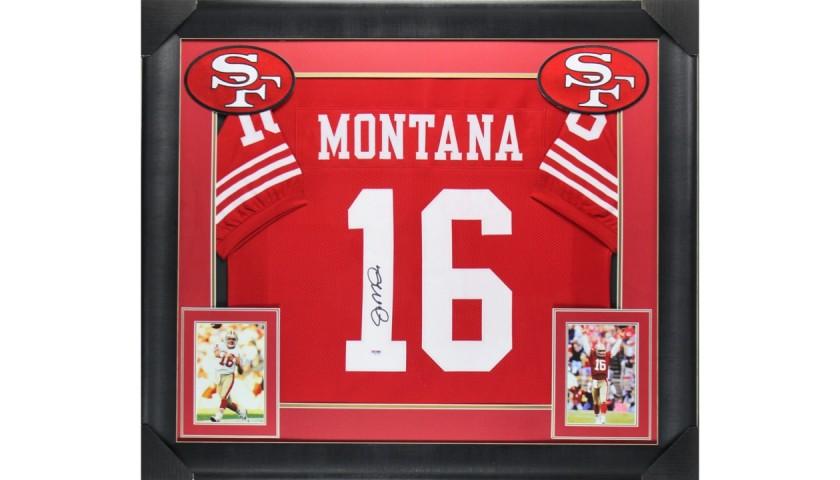 Joe Montana Signed Framed Jersey