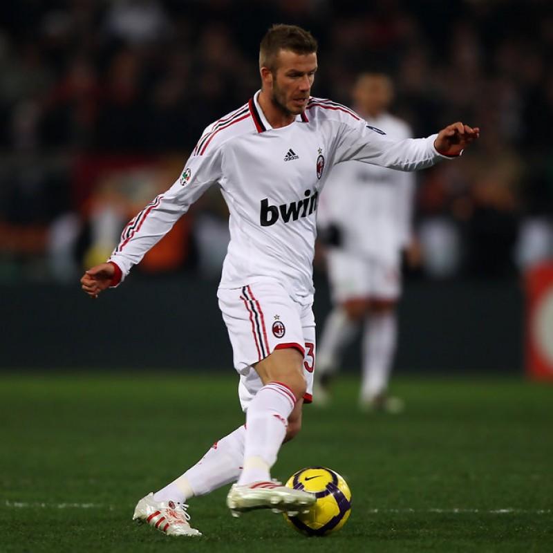 Beckham's Worn and Unwashed Shirt, Roma-Milan 2010