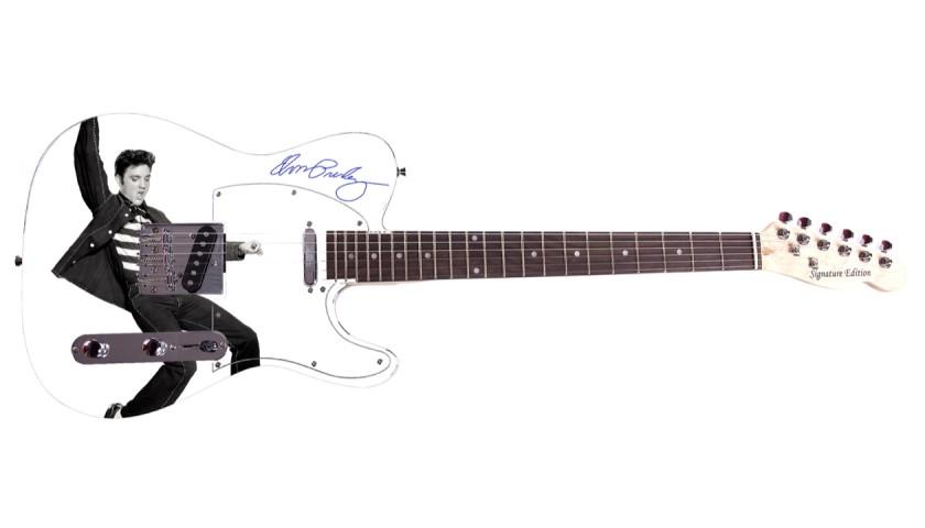 Elvis Graphics Guitar with Digital Signature