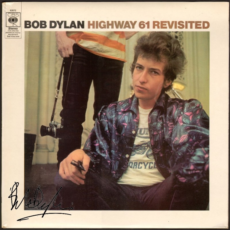 Bob Dylan Album with Printed Signature