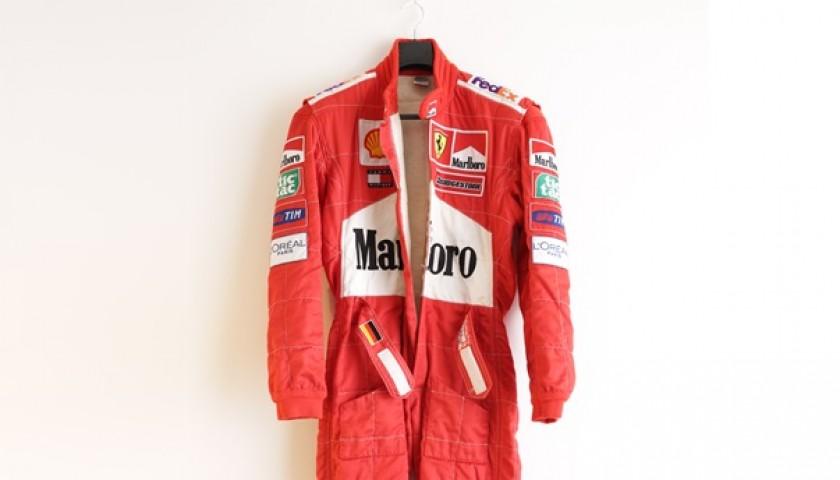Michael Schumacher's 2001 Worn Ferrari Race Suit