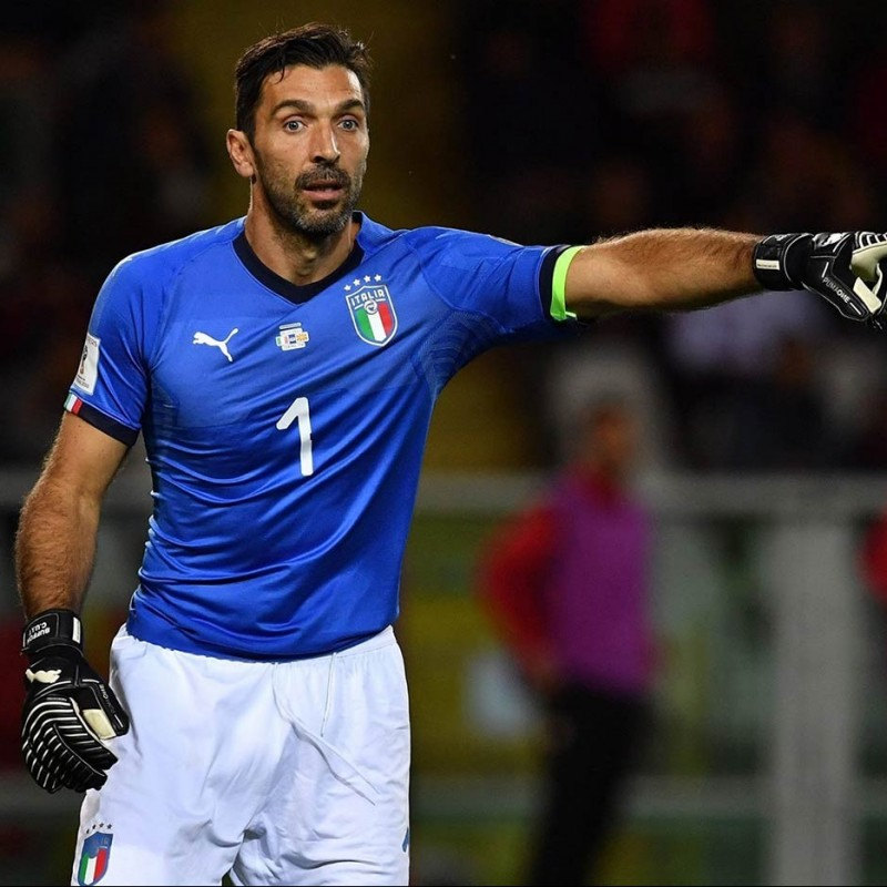 Buffon's Match-Issued Shirt, 2017 Italy-Macedonia