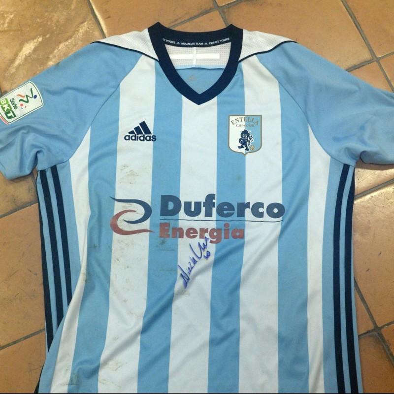Nizzetto's Virtus Entella Signed Match Shirt, 20/21