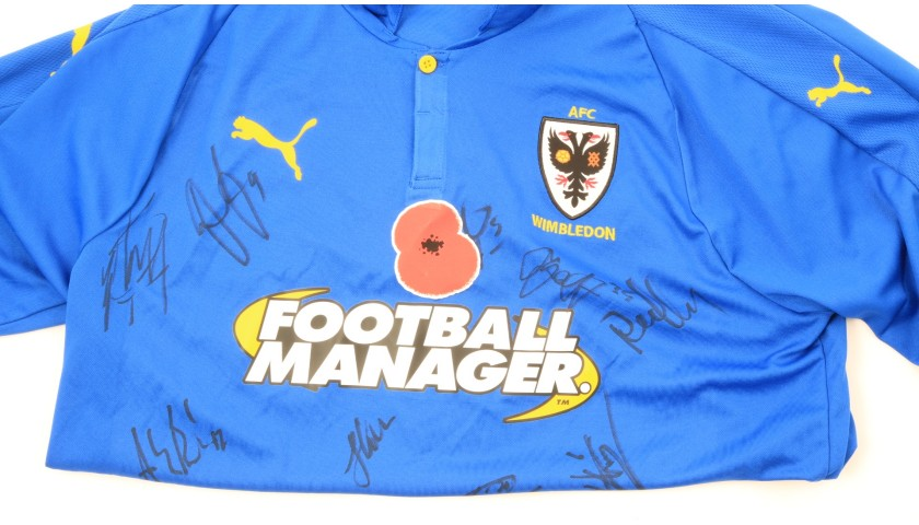 Wimbledon Official Poppy Shirt Signed by the Team