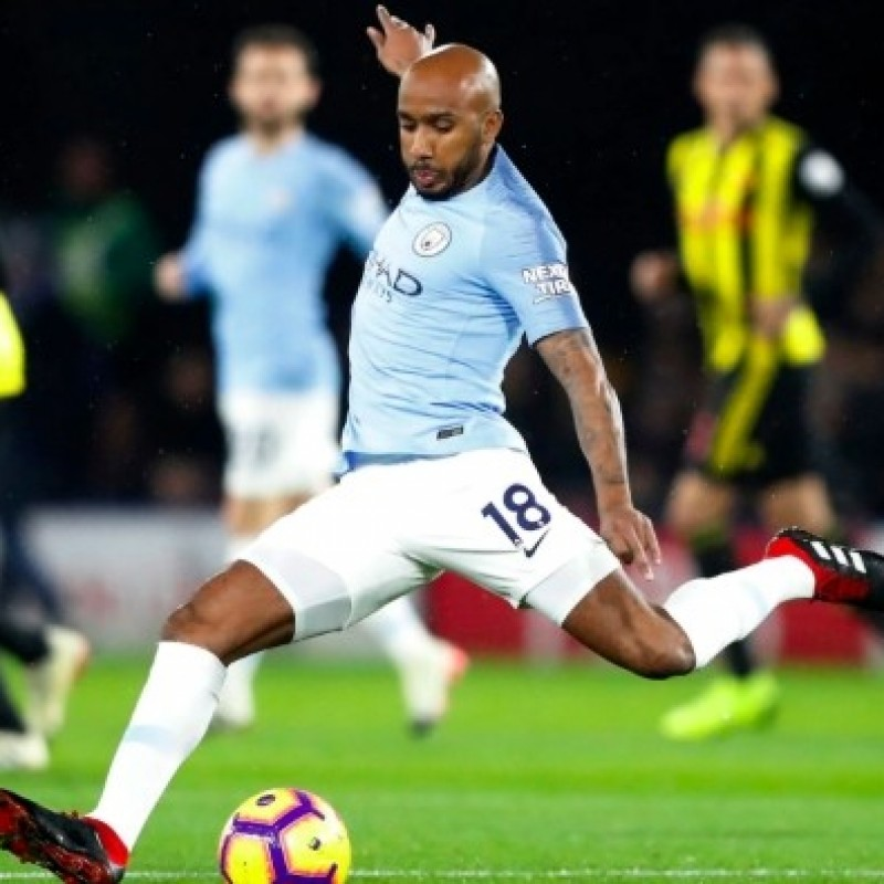 Delph's Manchester City Match-Issued Shirt, Premier League 2018/19