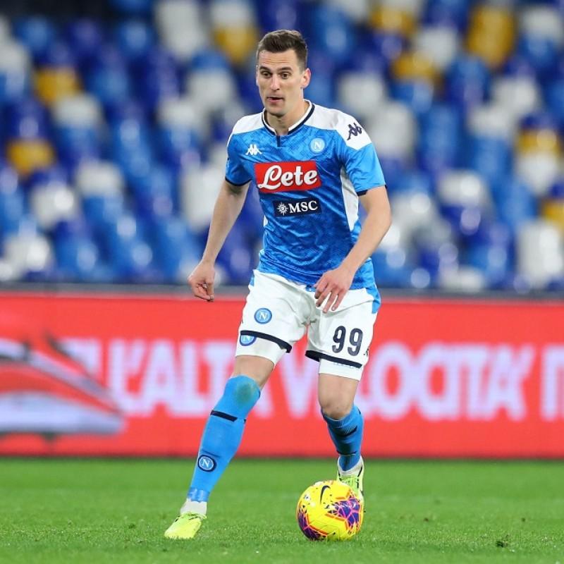 Milik's Napoli Worn and Signed Shorts, 2019/20