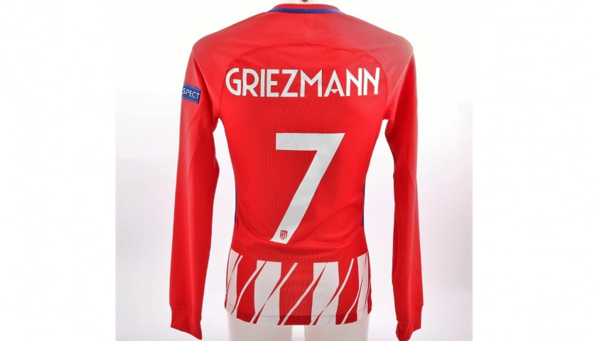 new product 820f6 11aa0 Griezmann's Atletico Madrid Match-Issue EL 2018 Final Shirt - CharityStars