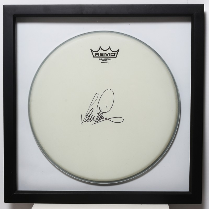 Ian Paice, Deep Purple Signed and Framed Drum Head