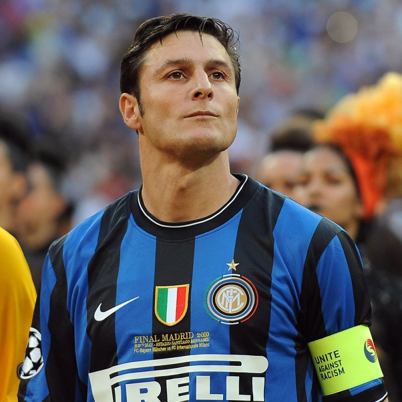 Treble Captain's Armband 2010 - Signed by Javier Zanetti