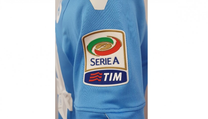 Mertens' Napoli Worn and Signed Shirt, 2013/14