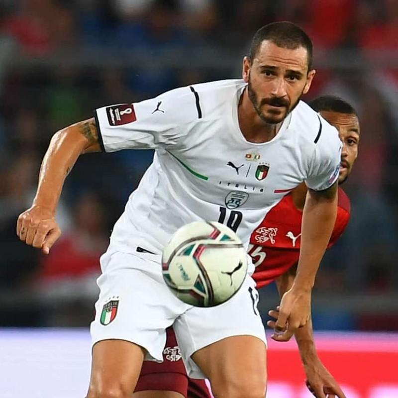 Bonucci's Match Shirt, Switzerland-Italy 2021