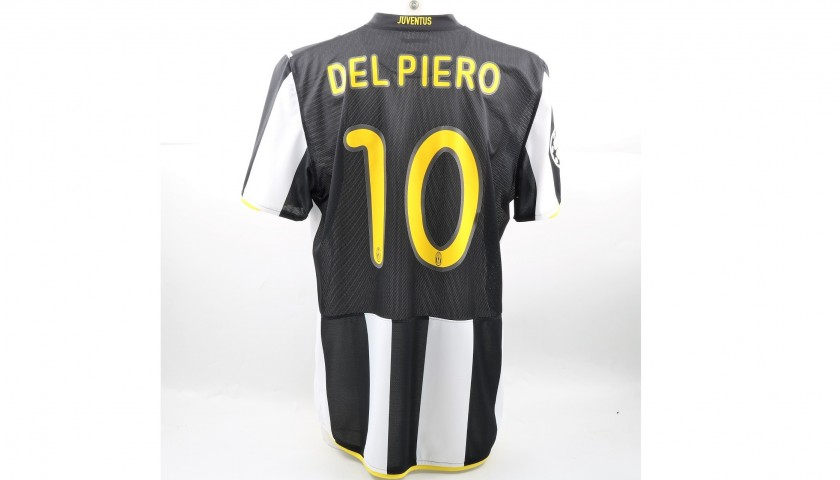 Del Piero's Match-Issued Juventus Shirt, 2008/09 UCL