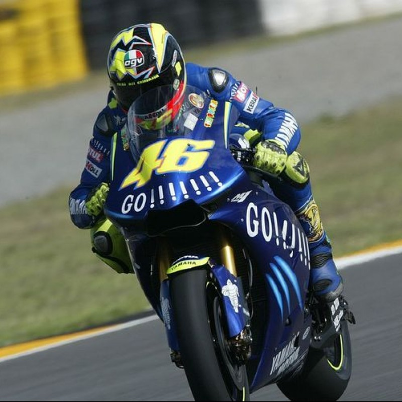 Valentino Rossi's Yamaha M1 YZR Mud Guard and 2 Fork Covers