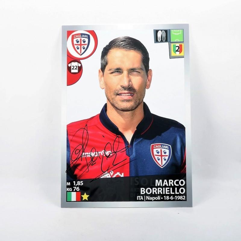 Borriello, Limited Edition Box and Signed Panini Maxi Sticker