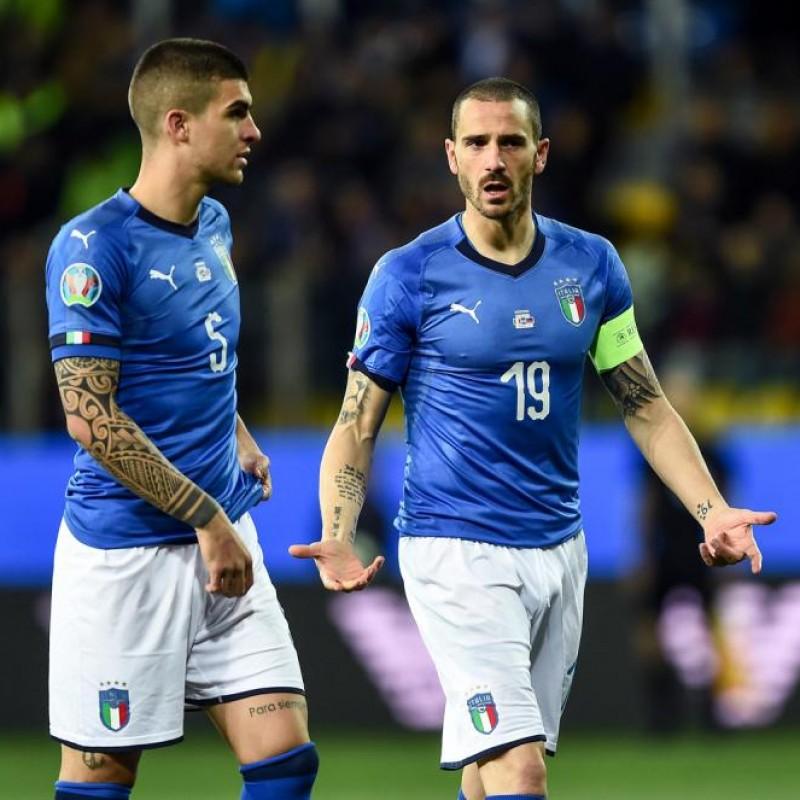Bonucci's Match Shirt, Italy-Liechtenstein 2019