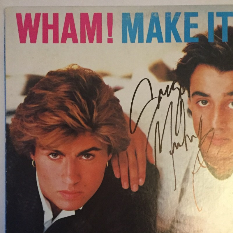 Wham! Vinyl Signed by George Michael