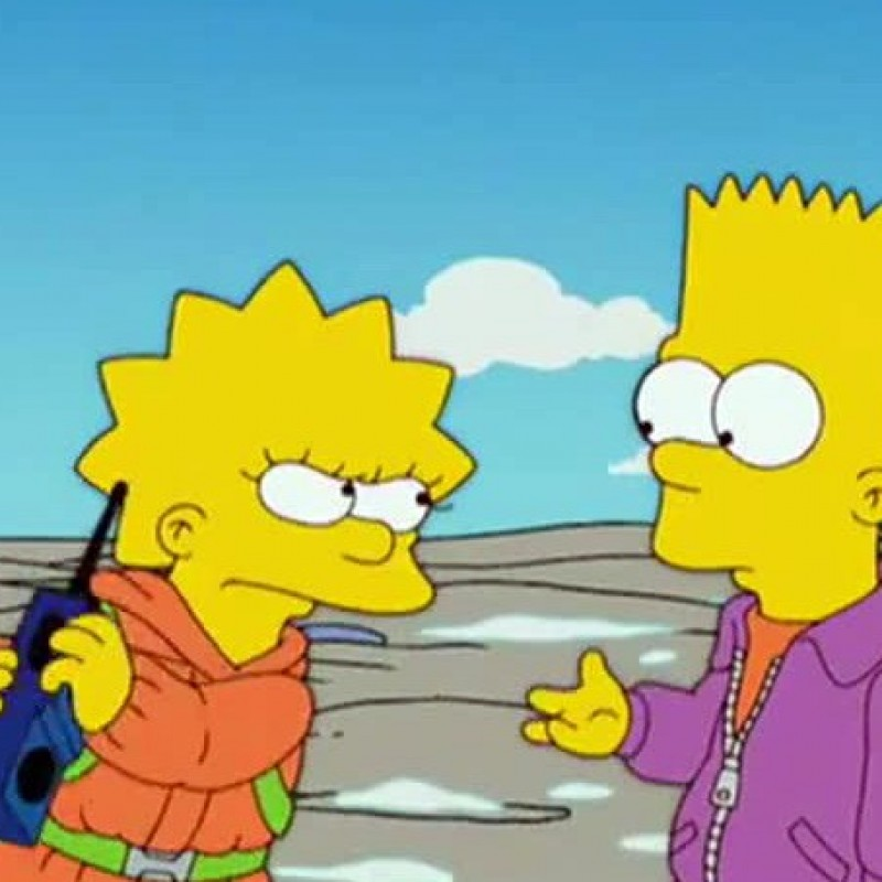 """The Simpsons - Original Script """"On a Clear Day I Can't See My Sister"""""""