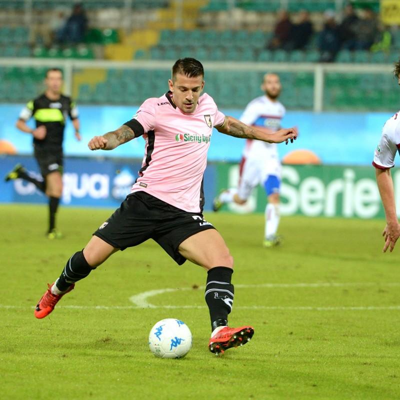 Trajkovski's Match-Worn Palermo-Cittadella Shirt, 2017/18 Serie B