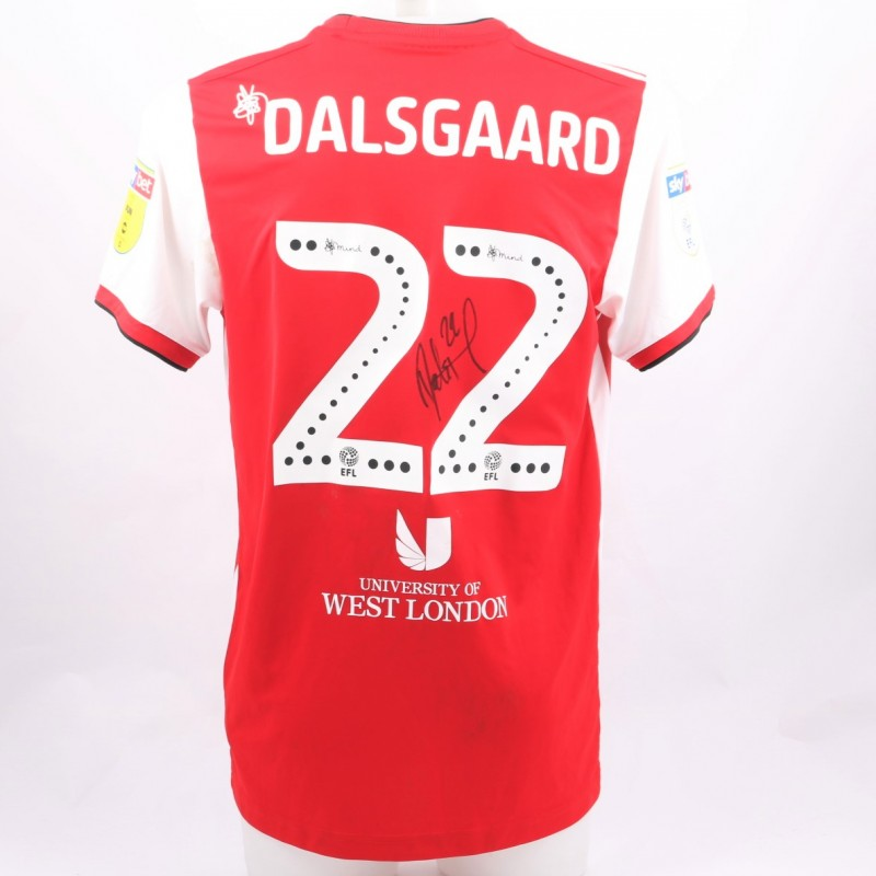 Dalsgaard's Brentford Worn and Signed Poppy Shirt