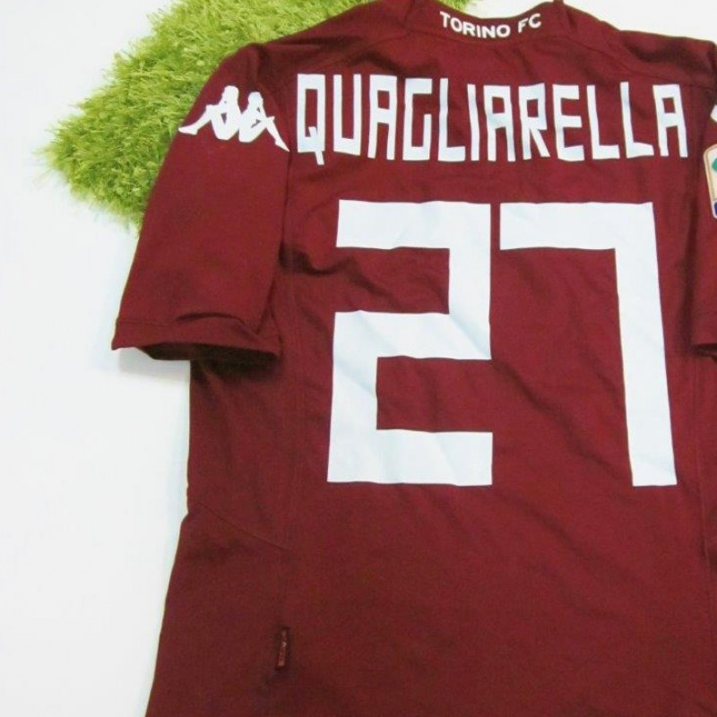 Quagliarella match-worn shirt, Torino-Sassuolo Serie A 2014/2015