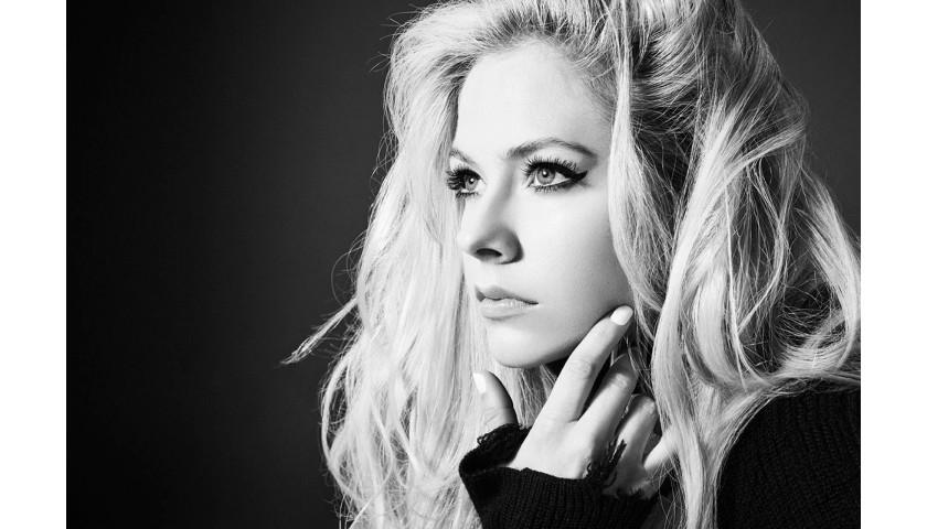 "Sit in Avril's ""VIP Section"" in London, United Kingdom April 6"