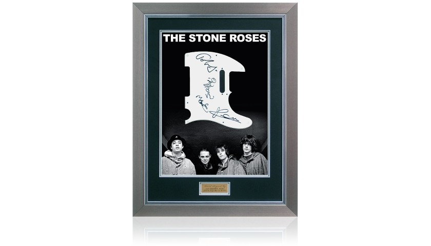 Stone Roses Hand Signed Scratch Guitar Plate