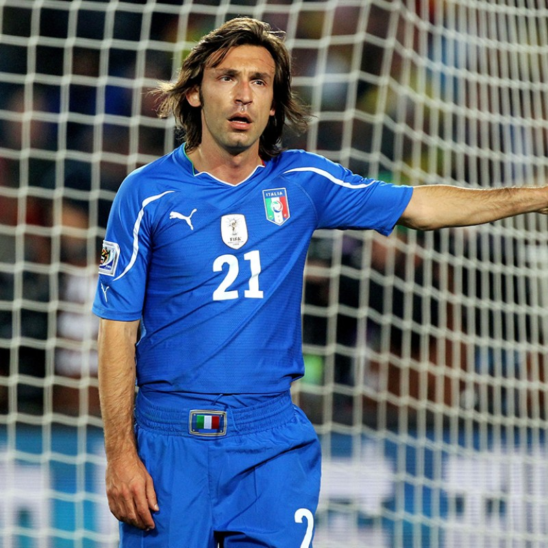 Pirlo's Italy Match-Issue/Worn Shirt, World Cup 2010