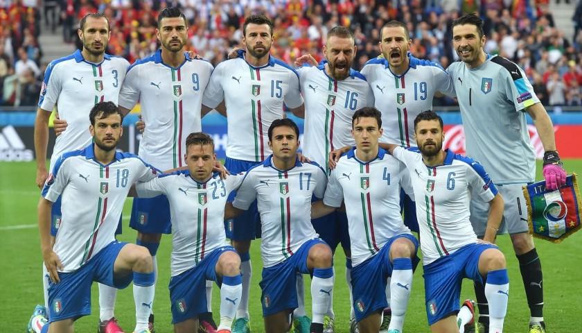 66242b05bb0 Candreva s Belgium-Italy Match-Issue Euro 2016 Shirt - CharityStars