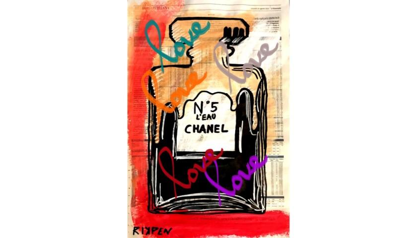 """Chanel N.5"" Digital Original Board by RikPen - Riccardo Penati"