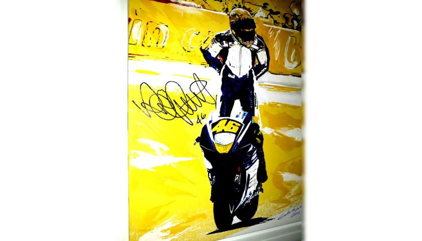 Valentino Rossi VR46  - Signed Artwork on Canvas by Gabriele Salvatore