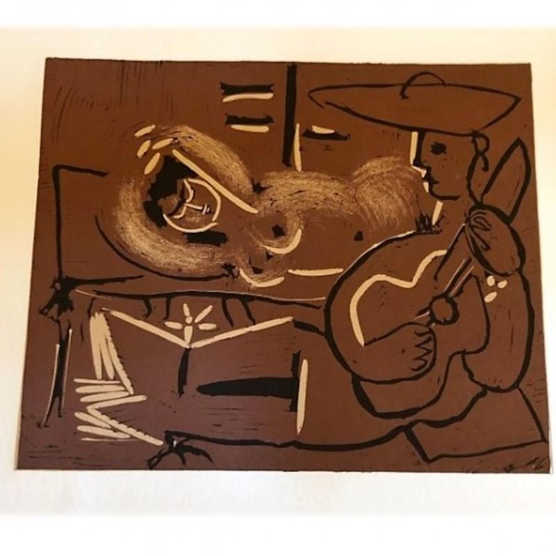 """""""Donna sdraiata e picador con chitarra"""" - Pablo Picasso Print"""