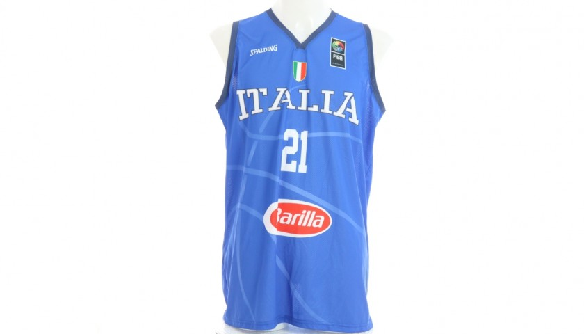 Flaccadori's Official Italy Signed Jersey, 2019
