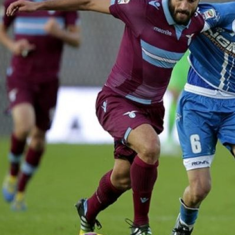 Candreva Lazio match issued/worn shirt, Serie A 2014/2015