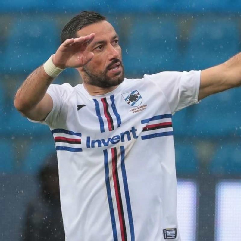Quagliarella's Worn Shirt, Parma-Sampdoria - #Blucrociati