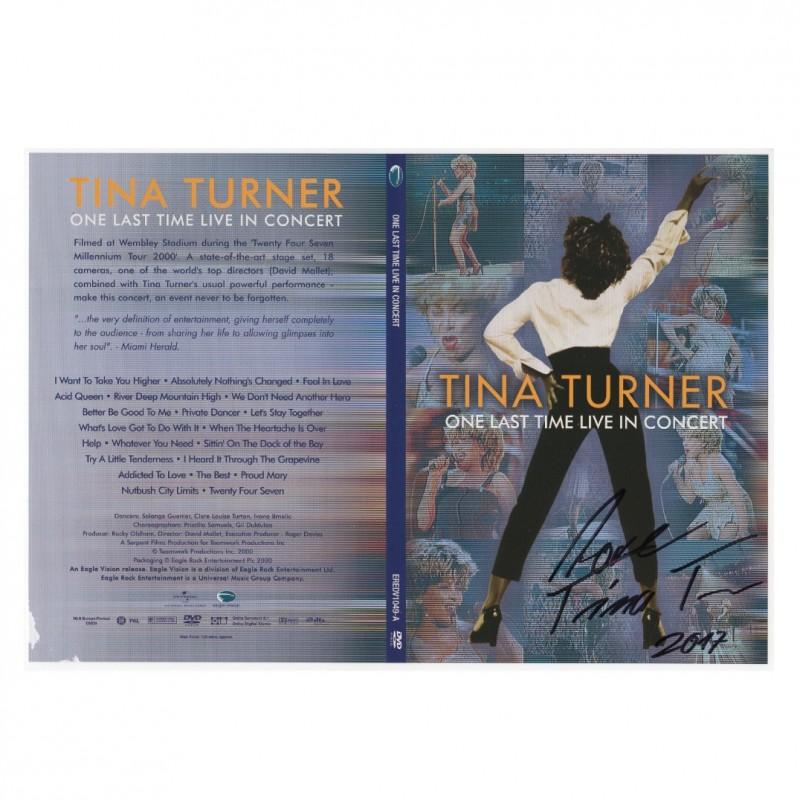 'One Last Time Live in Concert' - Autografato da Tina Turner
