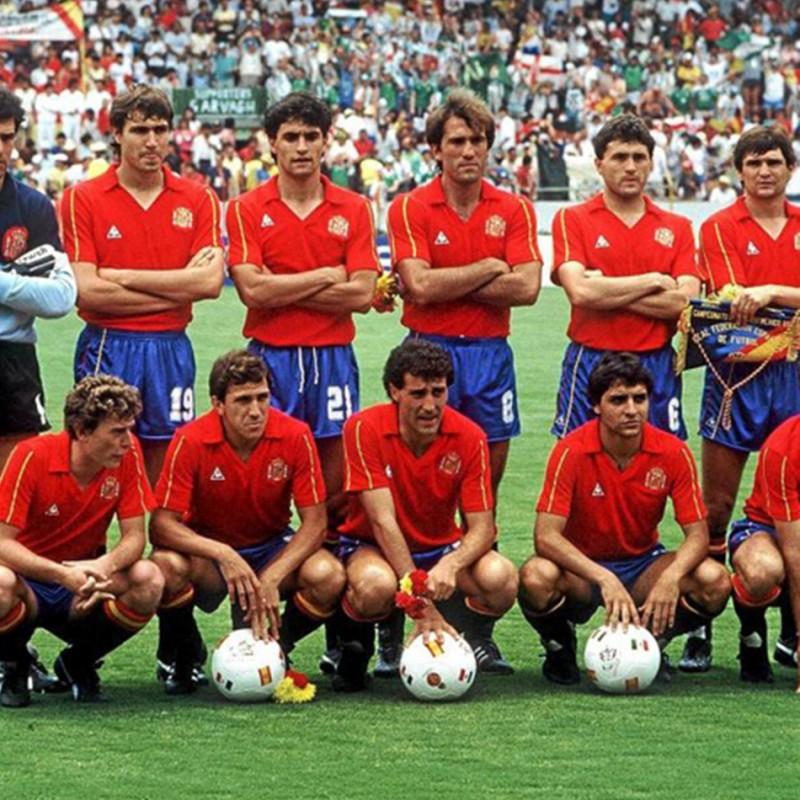 Chendo's Worn Shirt, Spain-England 1987