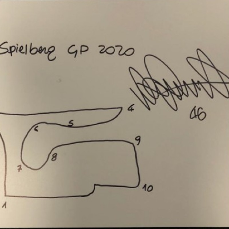 Signed Drawing of the Red Bull Ring Circuit - Austria by Valentino Rossi