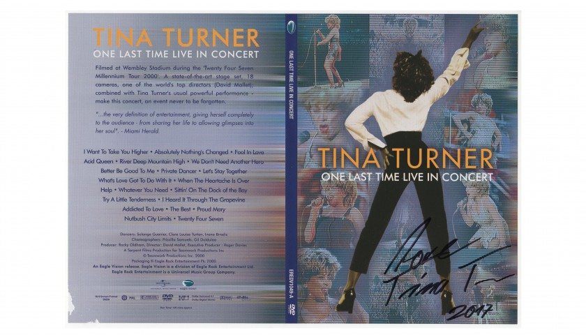 One Last Time Live in Concert DVD Signed by Tina Turner