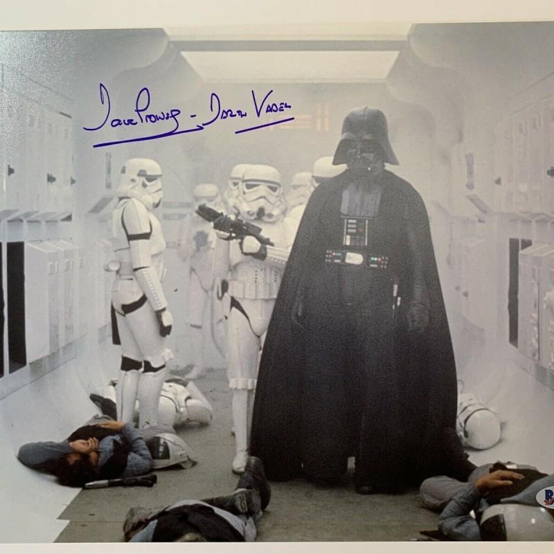 "David Prowse Hand Signed Photograph ""Darth Vader"""