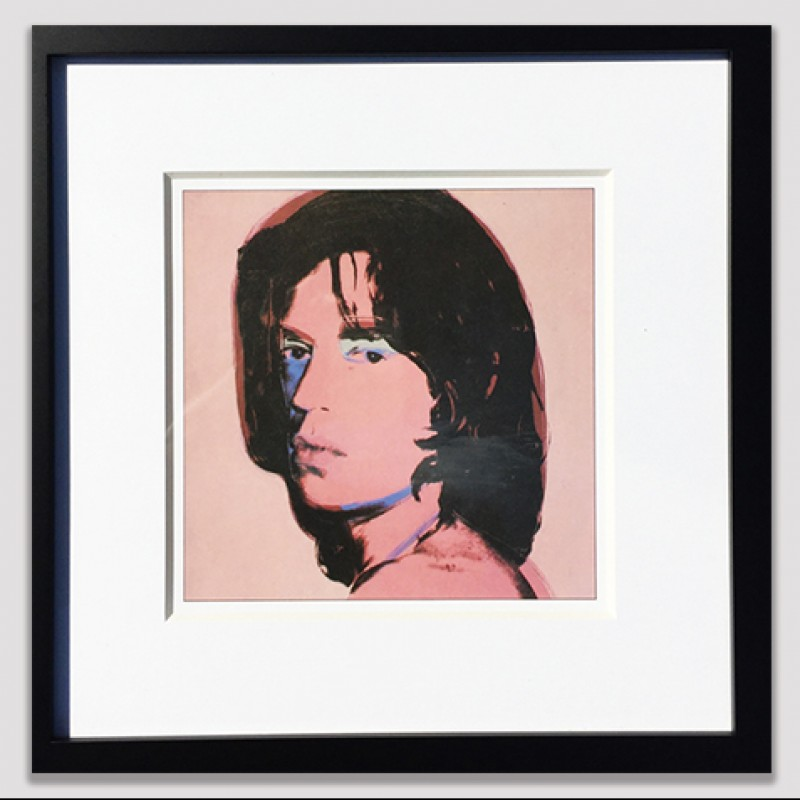 Lithograph Portrait of Mick Jagger by Andy Warhol