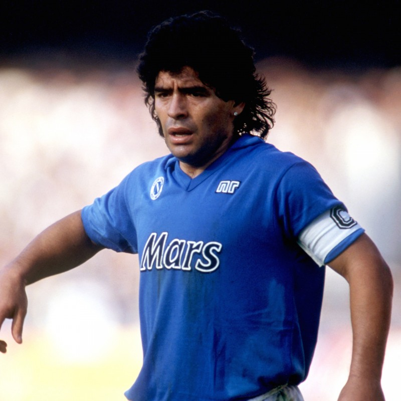 Maglia Maradona Napoli, preparata /indossata 1989/90