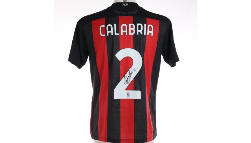 Calabria's Worn and Signed Shirt, Napoli-Milan 2020