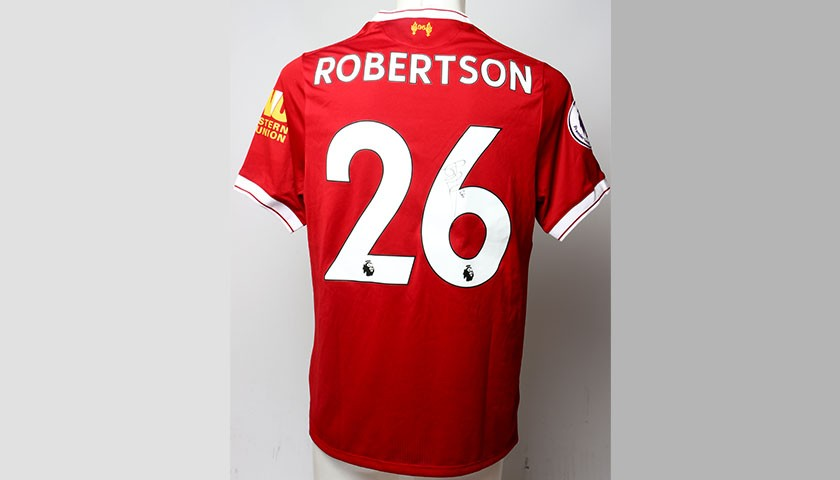 on sale f76b4 912c2 Liverpool FC signed shirt by Andrew Robertson - CharityStars