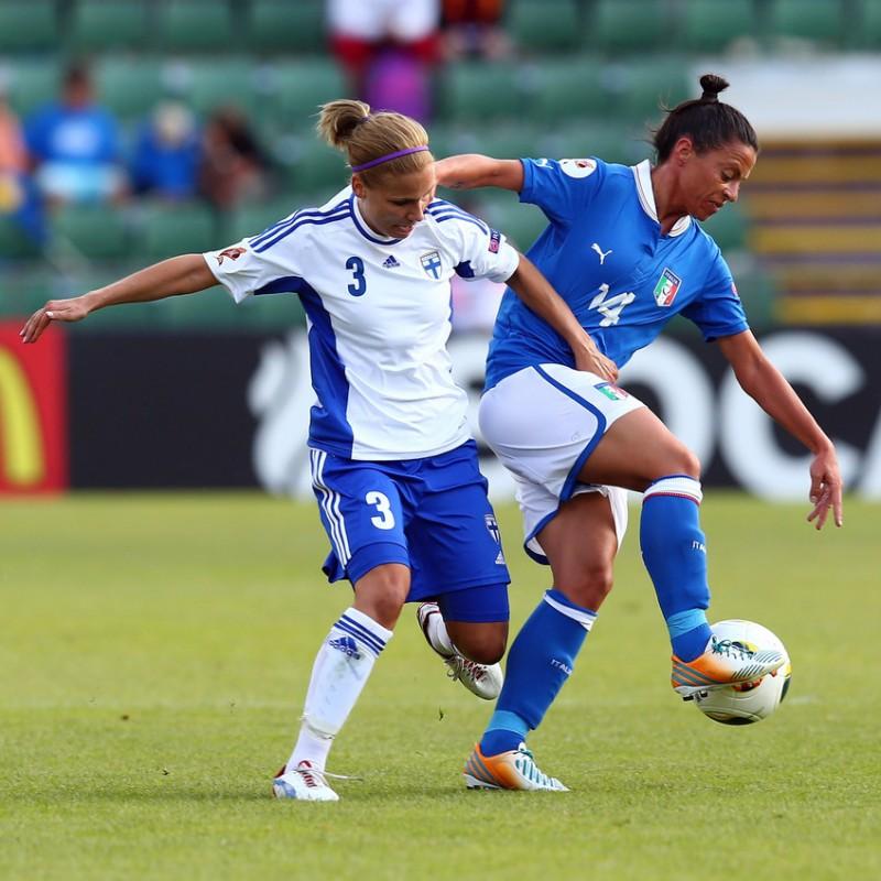 Iannella's Italy Women's Worn Football Shirt, Euro 2013
