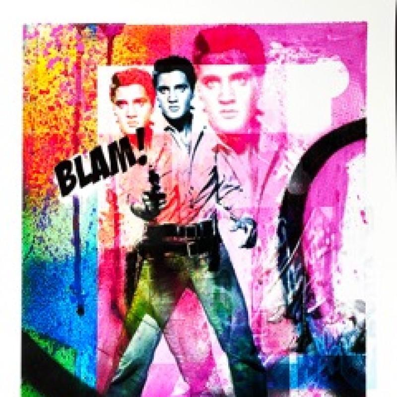 """""""Elvis Presley in Triplicate"""" by Thomas Hussung"""