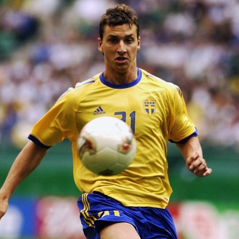 Ibrahimovic's Sweden Match Shirt, WC 2002