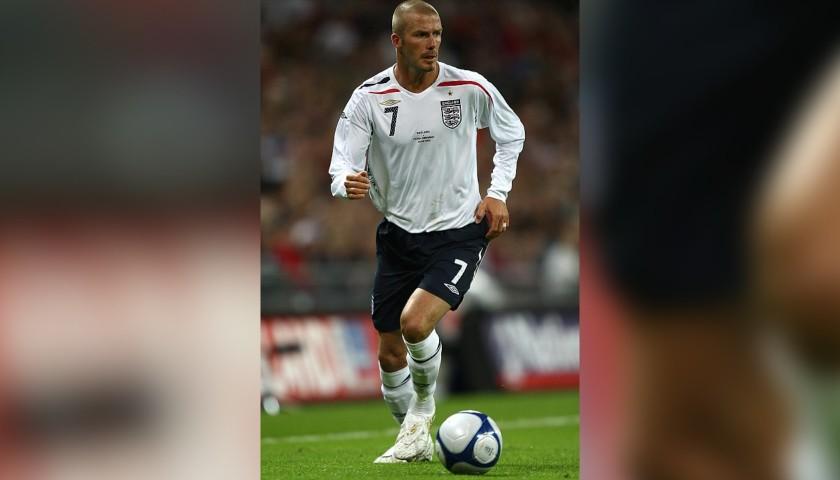 Beckham's Official England Signed Shirt, 2006/08