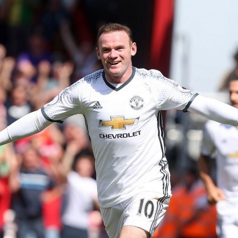 Rooney's Manchester United Match Shirt, PL 2016/17