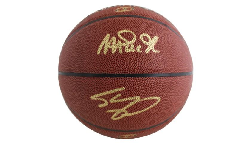 Magic Johnson & Shaquille O'Neal Signed NBA Basketball