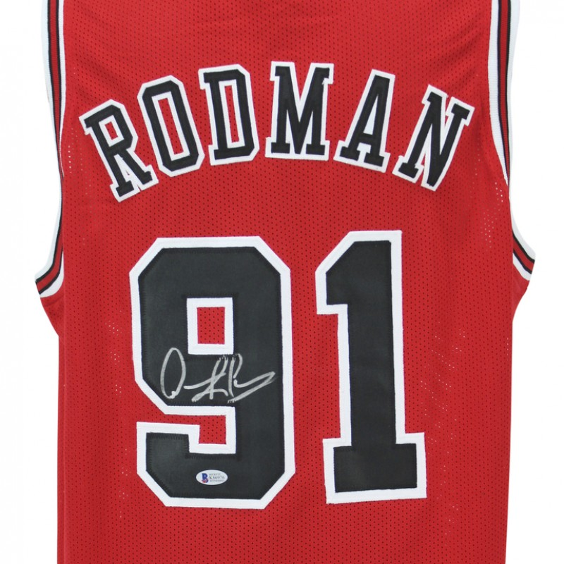 Dennis Rodman Hand Signed Custom Jersey